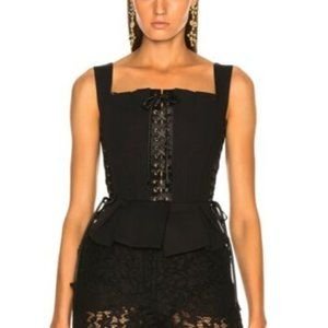 AUTHENTIC DOLCE & GABBANA Black Corset Bustier Top